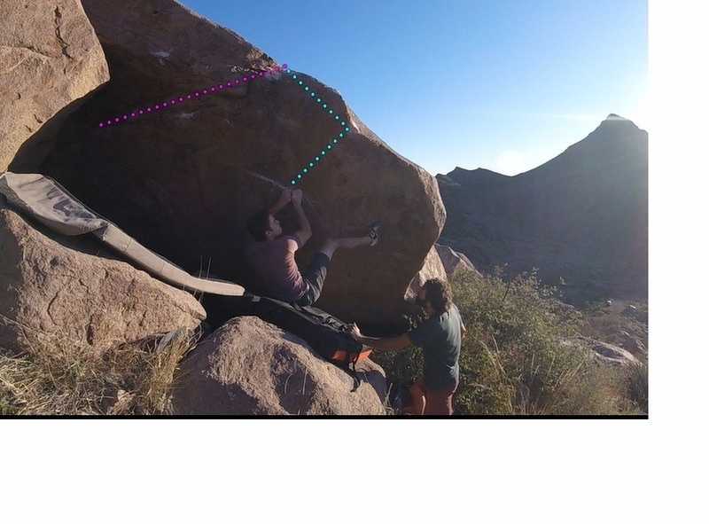 The set up for the two move wonder that is a descent v4.
