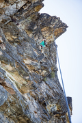 """Sweet overhanging finish to both """"Happy Trails""""5.10c and """"Overhung"""" 5.11d"""