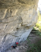 Rock Climbing Photo: not a super tall route, but packs a punch
