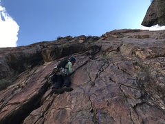 The start of what is described as pitch 5 here on MP, or pitch 4 in the Zeilman guidebook.