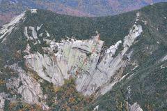 Rock Climbing Photo: Route line of Takillya Sunrise. © Kevin MacKenzie...