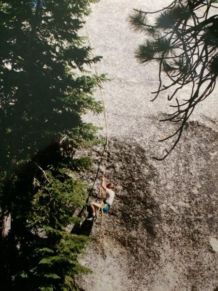Rock Climbing Photo: Prussic jugging Whitney portal