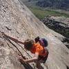 Lucas finishing Pitch 2. Note the awesome rock quality!