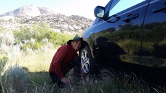 Rock Climbing Photo: Pitch 1... dig out your car (while transfusing blo...