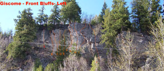 Rock Climbing Photo: The Front Bluffs loom directly above the Roadside ...