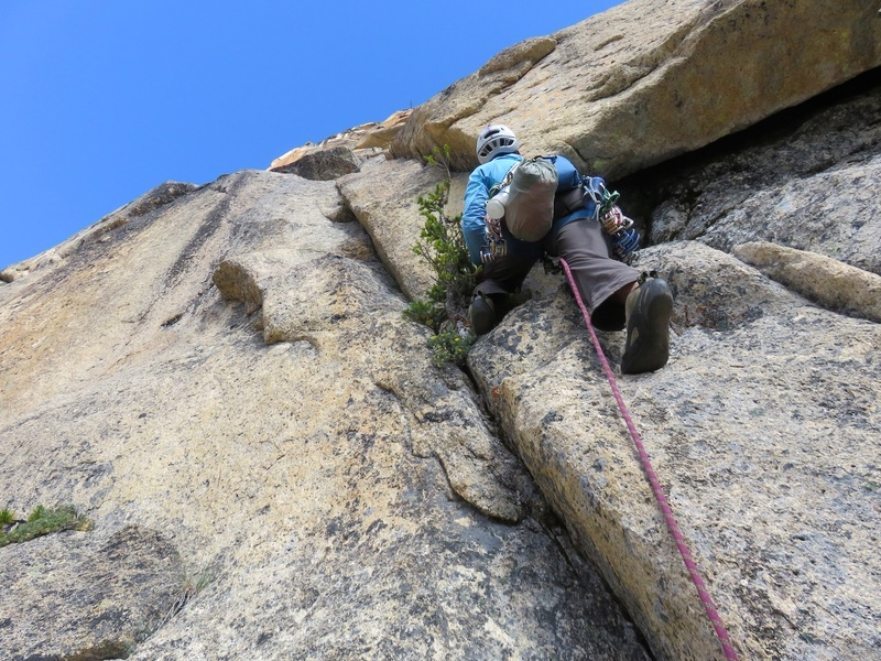Rock Climbing Photo: Starting up Pitch 1.