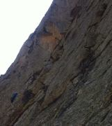 Rock Climbing Photo: 'Bananagrams ' fourth pitch  5.10