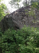 Rock Climbing Photo: Pirate Boulder as seen from trail