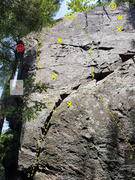 Rock Climbing Photo: 1. Closed Project 5.12  2. My First Left 5.10b ...