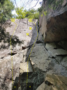 Rock Climbing Photo: 3. My First Right 5.8++  4. Why Nuts 5.5
