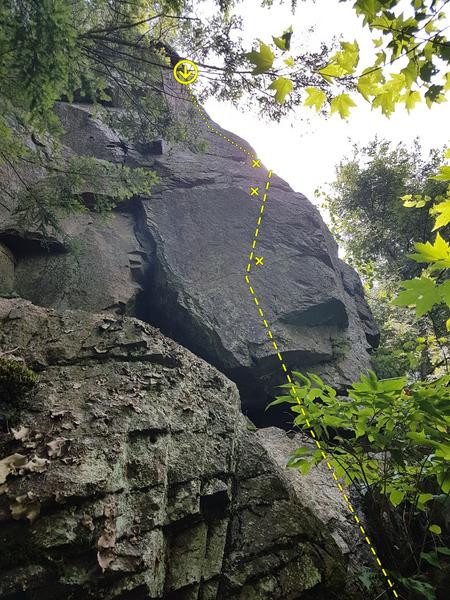 Rock Climbing Photo: 8. Middle Age Crisis 5.8+