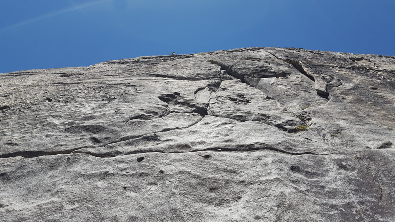 Arch Bitch-Up on the right. Left Crack to its left. You can see the traverse crack coming in from the left.