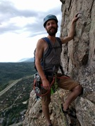 Rock Climbing Photo: Daniel about to led the 5.10 variation of P15. Thi...