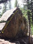 Rock Climbing Photo: The main arete.