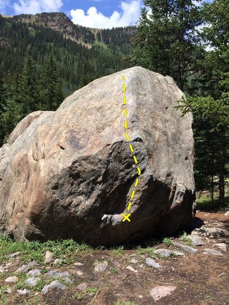 Rock Climbing Photo: Pinch Lunge.