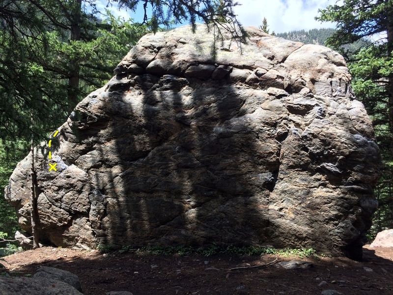 Rock Climbing Photo: The left side of Warm-Up Block Two.