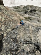 Rock Climbing Photo: Pitch 7. The Gold Corner. Stellar face, crack, and...