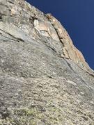 Rock Climbing Photo: Pitch 6. Nebulous alpine terrain. Traverse 100' ri...