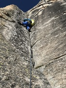 Rock Climbing Photo: Pitch 2. 5.10 corner climbing. Super pitch.