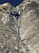 Rock Climbing Photo: Pitch 2. 5.10 corner climbing. Super pitch.