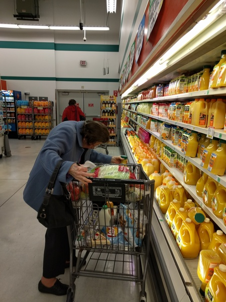 Ok, I went looking for a shot of Tower, but all I found was a pic of my 95 year old mom grocery shopping. <br> <br> You're welcome. BTW, I categorized it as an &quot;action photo&quot;, because the other choices seemed inadequate. If it is of any assistance, always grab the &quot;EXTRA pulp&quot; for her if you take her out shopping. Extra beta for you.
