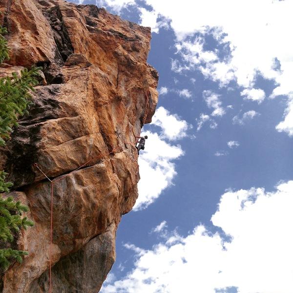 Matt climbing.