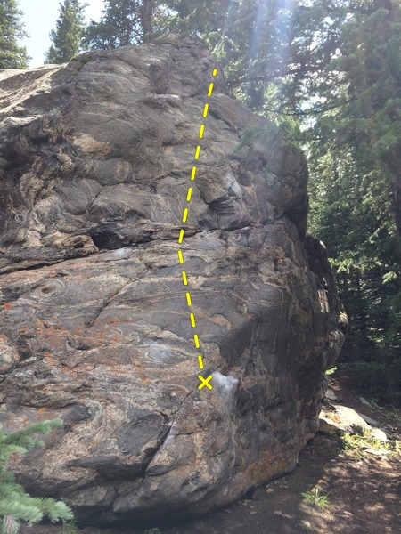 Rock Climbing Photo: The backside of Warm-Up Block Two.