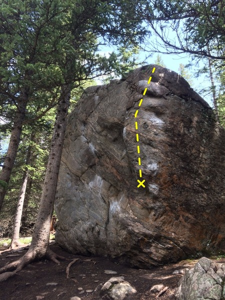 Rock Climbing Photo: Warm-Up Block Three.