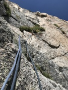 Rock Climbing Photo: Looking up the Gold Corner, P7. Climb left of the ...