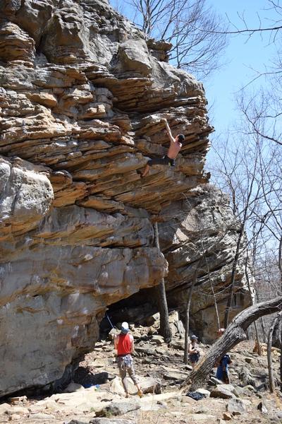 Rock Climbing Photo: Sam sending