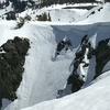 Top of the Cross Couloir. 50 - 55 degrees.
