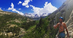 Rock Climbing Photo: Top of WRB with alpine wonderland in the backgroun...