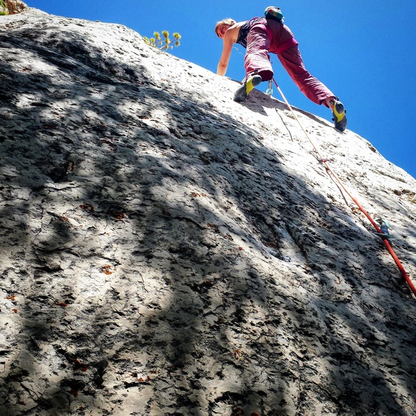 Rock Climbing Photo: Rachel on the first ascent of Snowblind.