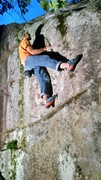 Rock Climbing Photo: Sweet pic of Dan on one of his awesome boulder pro...