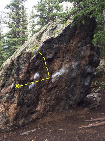Rock Climbing Photo: Main Warm Up Boulder.