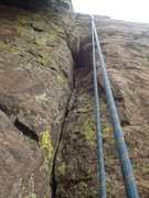 Rock Climbing Photo: The crux area.