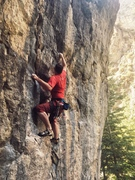 Rock Climbing Photo: Making the short traverse move before entering the...