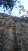 Rock Climbing Photo: The route after the modification. No more blocks a...