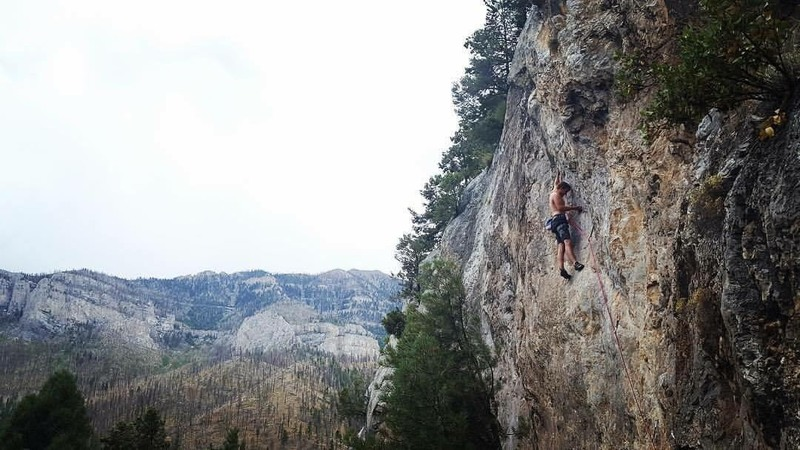 Rock Climbing Photo: Just Past the Crux on Bad Seed