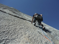 Rock Climbing Photo: Brad leading p3 on The Boltway