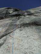 Rock Climbing Photo: Brad leading Golfer's Route