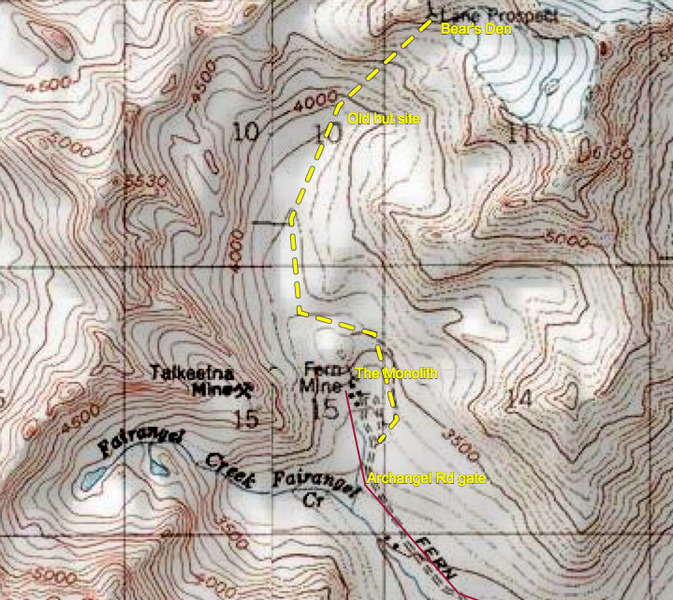 Rock Climbing Photo: Lane Prospect area map
