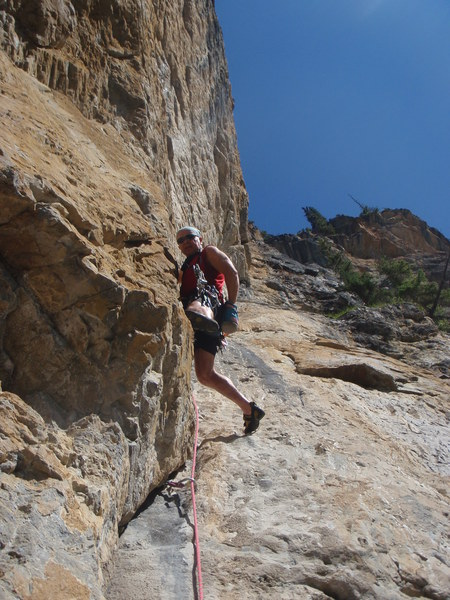 Rock Climbing Photo: My very own route Canadian Rockie sWeeping Wall ar...