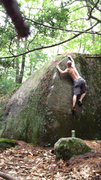 Rock Climbing Photo: The dirty FA, don't worry, it's spotless now