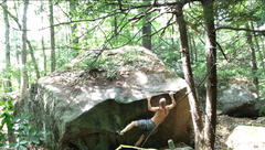 Rock Climbing Photo: Getting after it