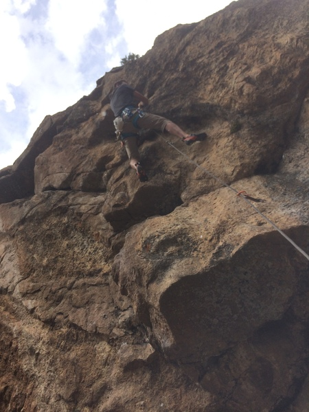 Rock Climbing Photo: Mike Lewis on the first ascent of Pin Me.