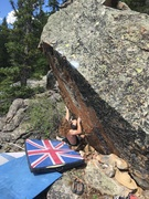 Rock Climbing Photo: Nick at the start.