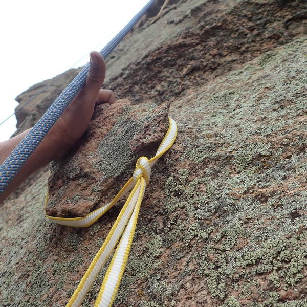 Use an overhand knot and cinch it down to keep it in place.