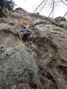 Rock Climbing Photo: On toprope.