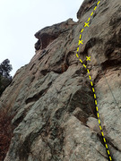 Rock Climbing Photo: The start of the route.
